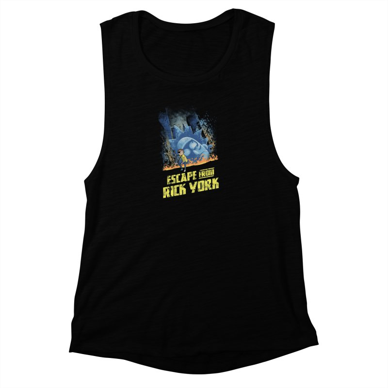 Escape from Rick York Women's Muscle Tank by Diego Pedauye's Artist Shop