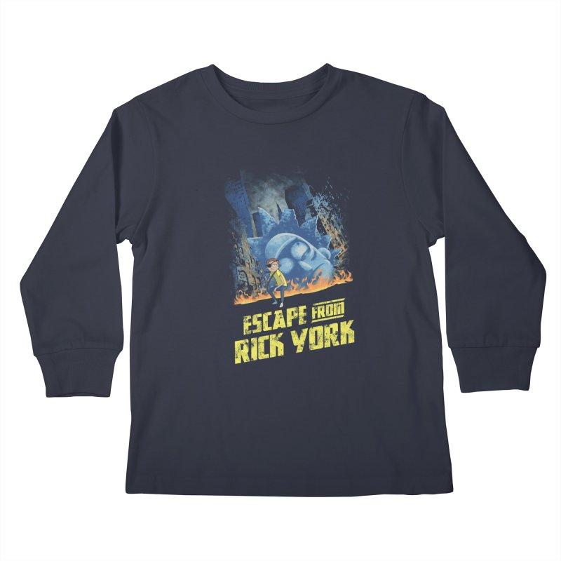 Escape from Rick York Kids Longsleeve T-Shirt by Diego Pedauye's Artist Shop