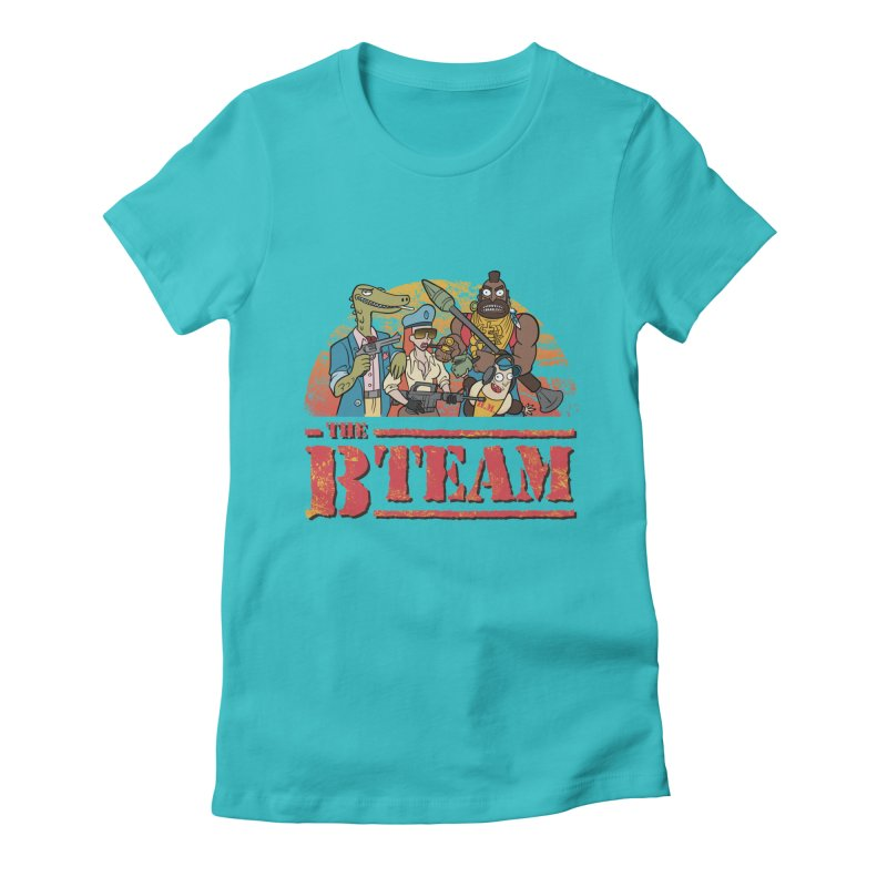 The B Team Women's Fitted T-Shirt by Diego Pedauye's Artist Shop