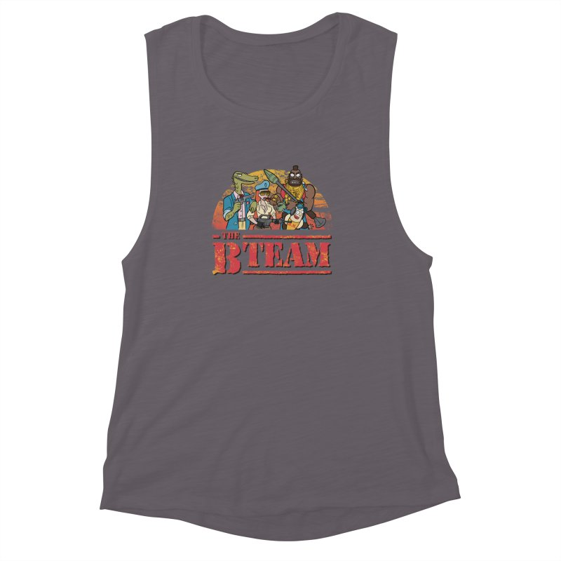 The B Team Women's Muscle Tank by Diego Pedauye's Artist Shop