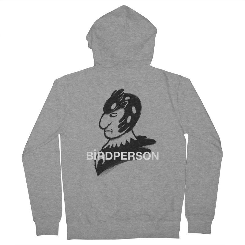 Birdperson Men's Zip-Up Hoody by Diego Pedauye's Artist Shop