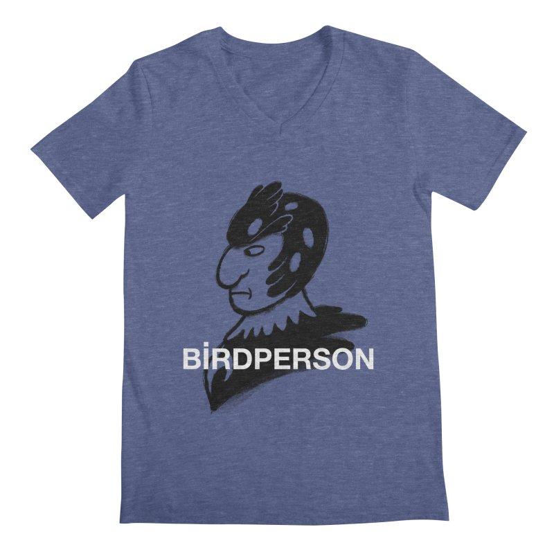 Birdperson Men's V-Neck by Diego Pedauye's Artist Shop