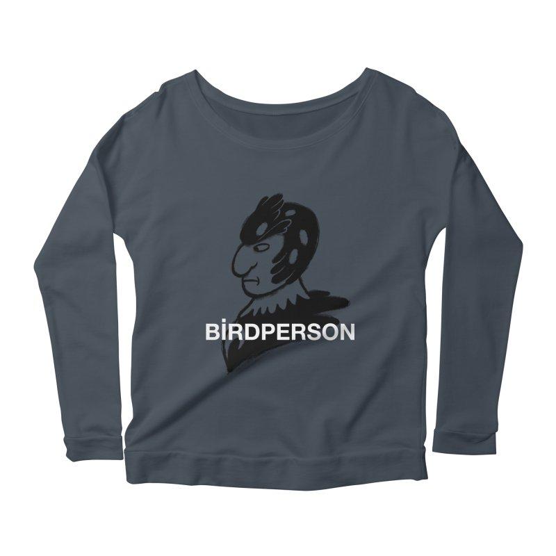 Birdperson Women's Longsleeve Scoopneck  by Diego Pedauye's Artist Shop