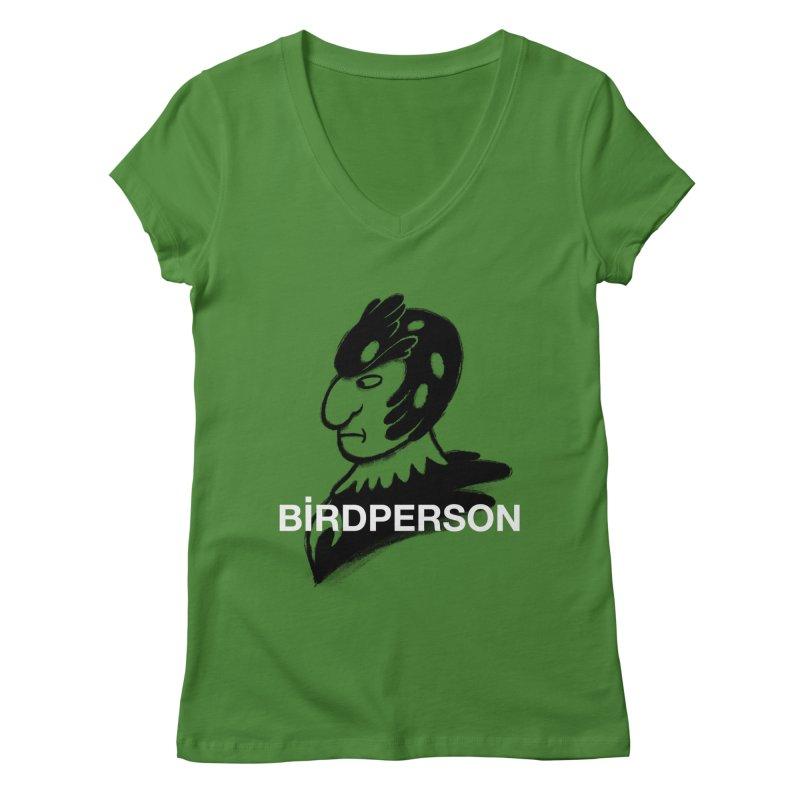 Birdperson Women's V-Neck by Diego Pedauye's Artist Shop