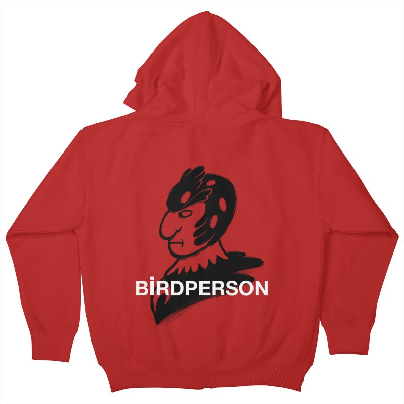 Birdperson Kids Zip-Up Hoody by Diego Pedauye's Artist Shop