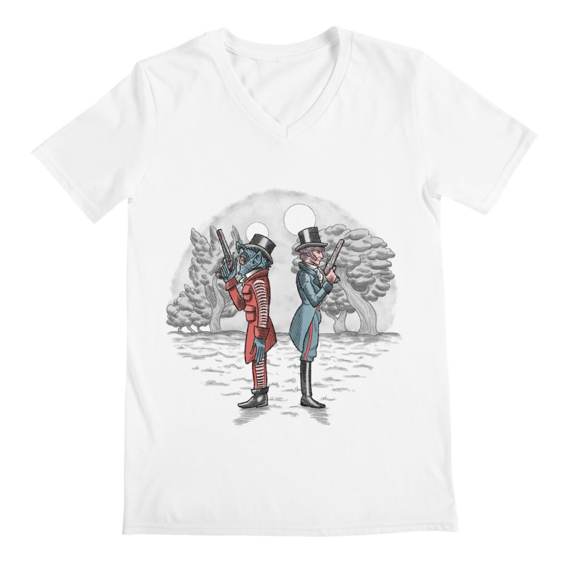 Cantina Duelists Men's V-Neck by Diego Pedauye's Artist Shop
