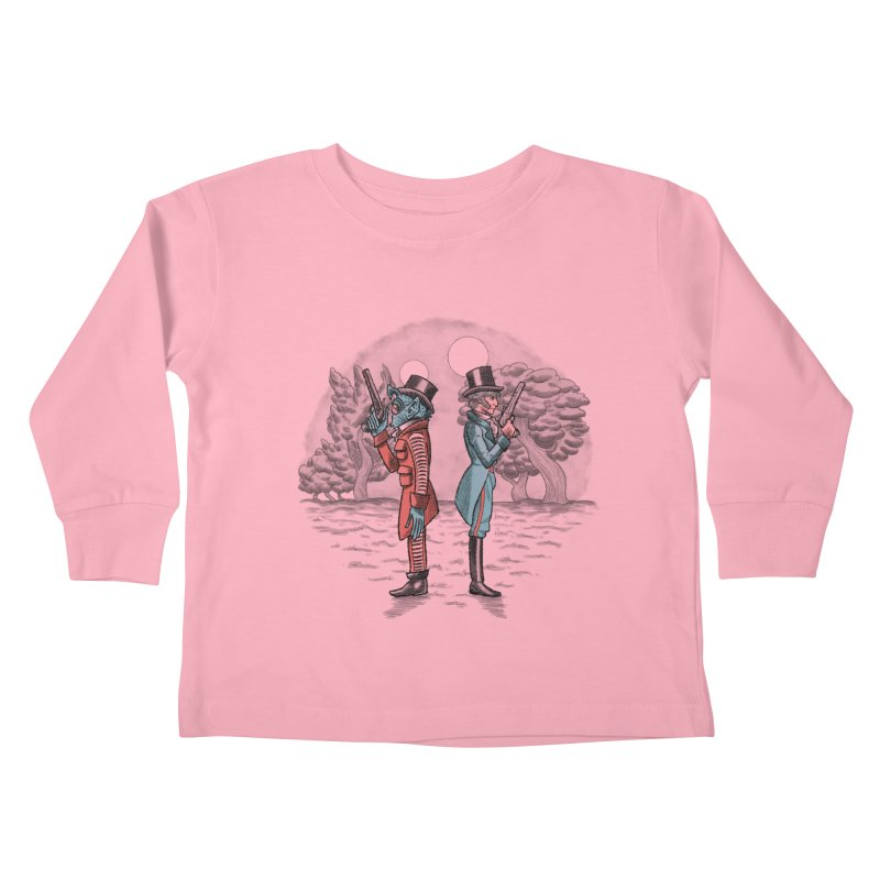 Cantina Duelists Kids Toddler Longsleeve T-Shirt by Diego Pedauye's Artist Shop