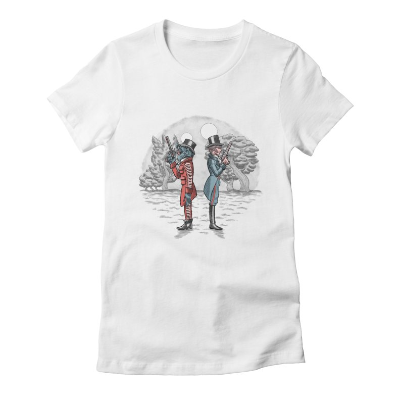 Cantina Duelists Women's Fitted T-Shirt by Diego Pedauye's Artist Shop