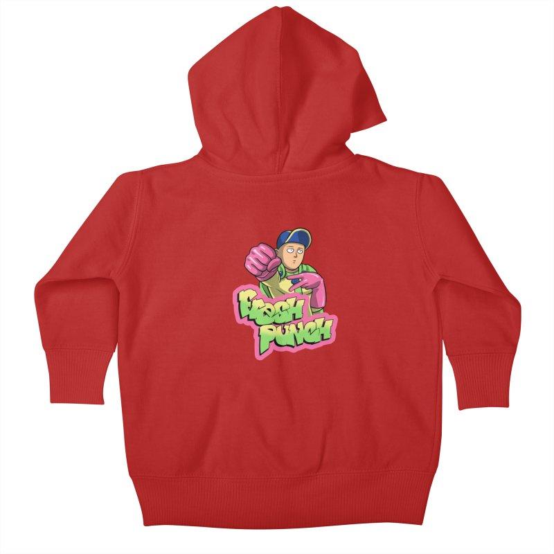 Fresh Punch Kids Baby Zip-Up Hoody by Diego Pedauye's Artist Shop