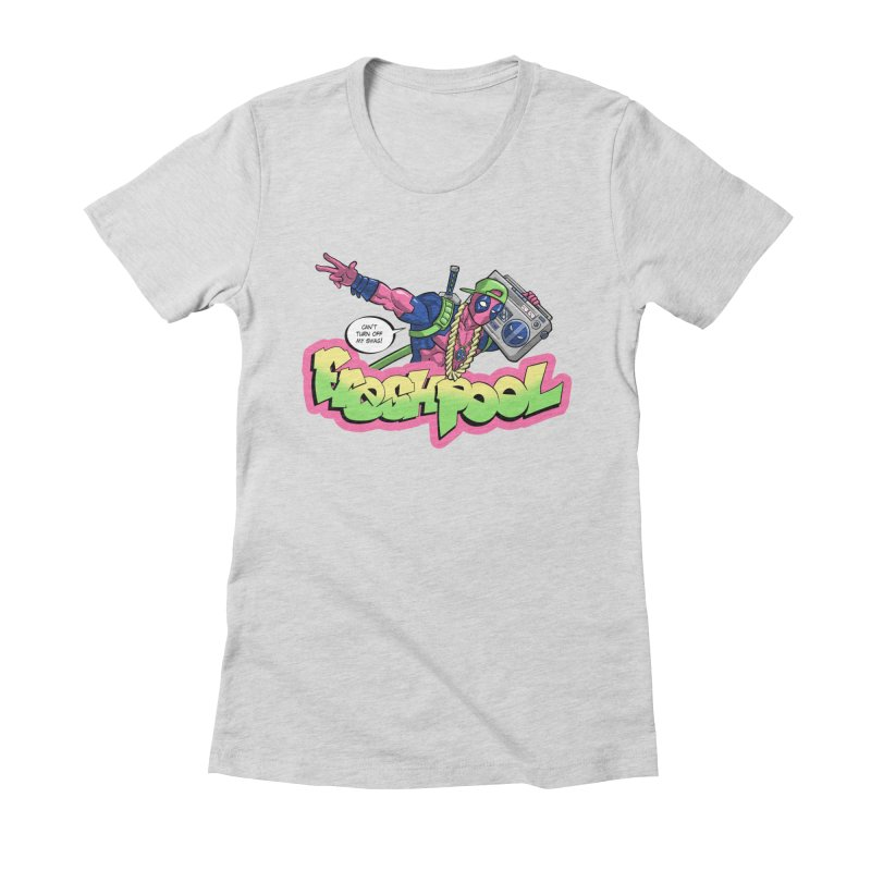 Fresh Pool Women's Fitted T-Shirt by Diego Pedauye's Artist Shop