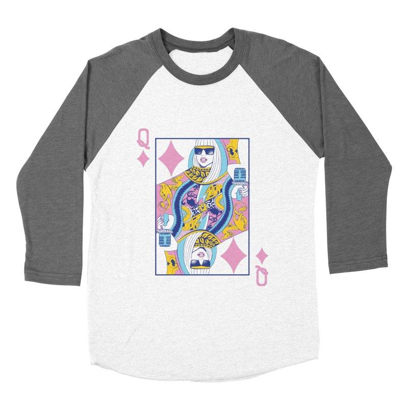 Q of Glam Women's Baseball Triblend T-Shirt by Diego Pedauye's Artist Shop