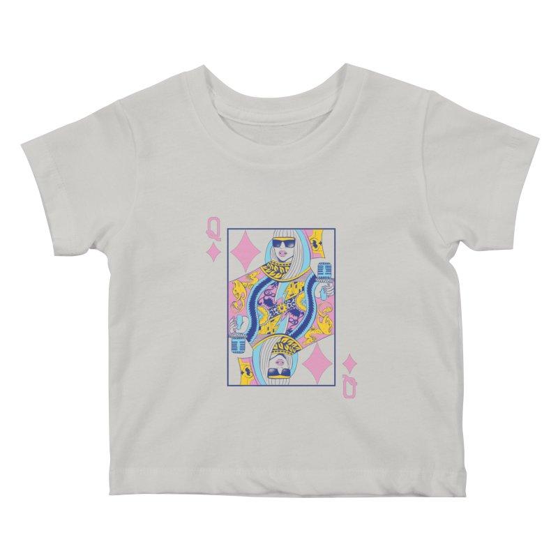 Q of Glam Kids Baby T-Shirt by Diego Pedauye's Artist Shop