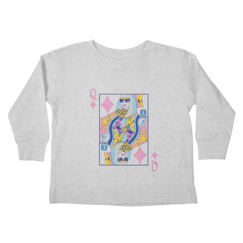 Q of Glam Kids Toddler Longsleeve T-Shirt by Diego Pedauye's Artist Shop