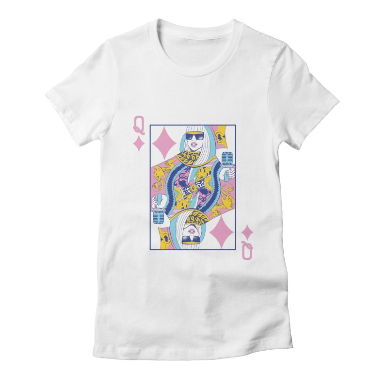 Q of Glam Women's Fitted T-Shirt by Diego Pedauye's Artist Shop
