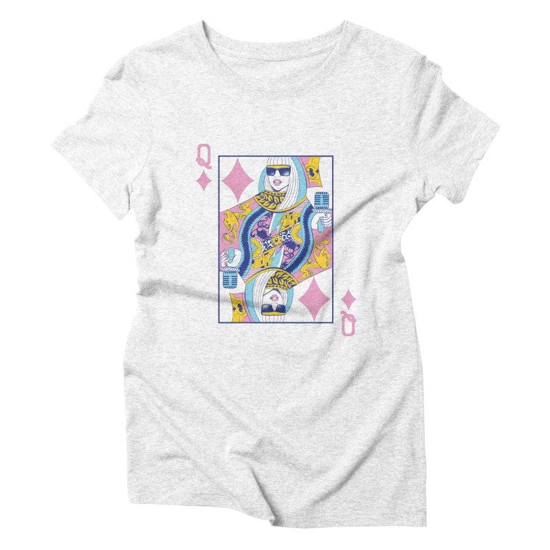 Q of Glam Women's Triblend T-shirt by Diego Pedauye's Artist Shop