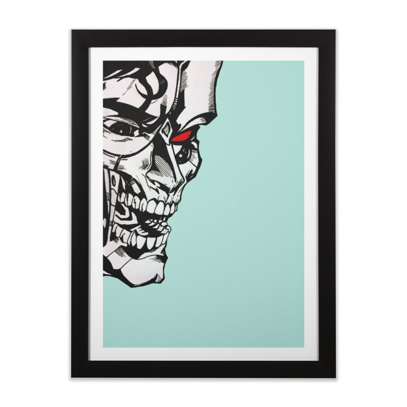 Half machine, half villain Home Framed Fine Art Print by DieGraphics print corner