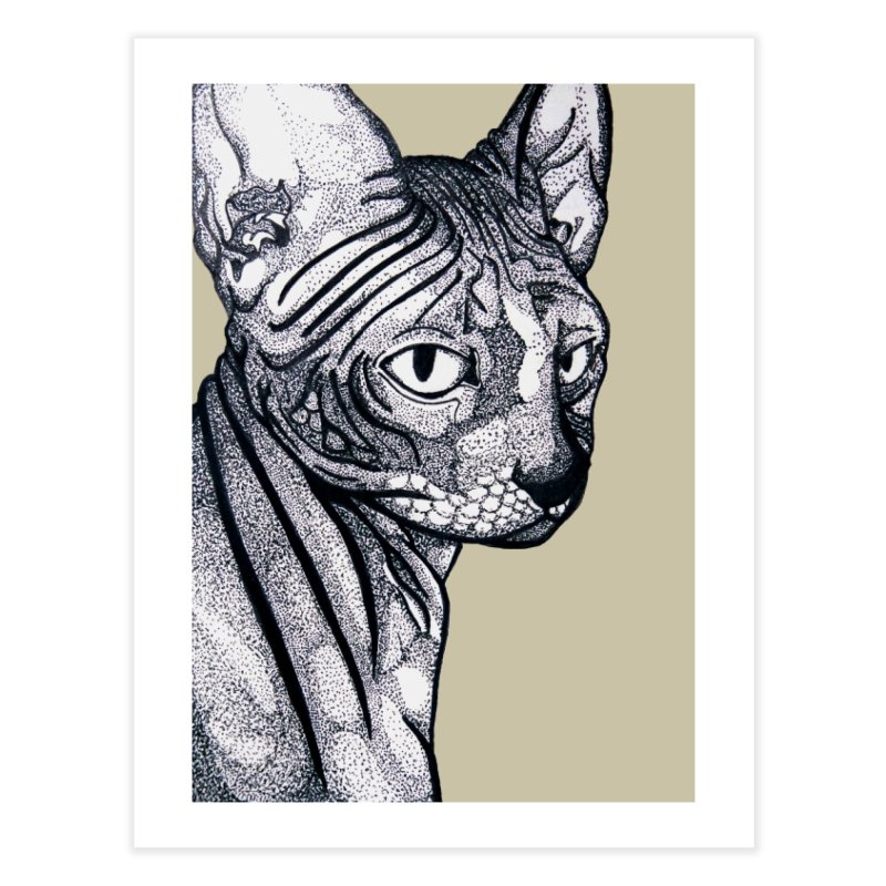 Feline dots Home Fine Art Print by DieGraphics print corner