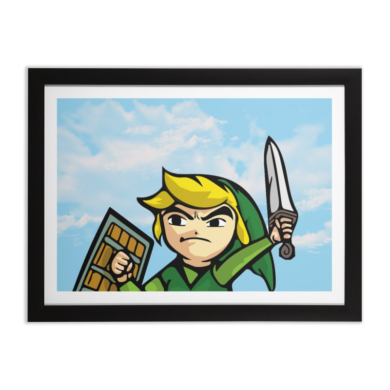 Legendary hero Home Framed Fine Art Print by DieGraphics print corner
