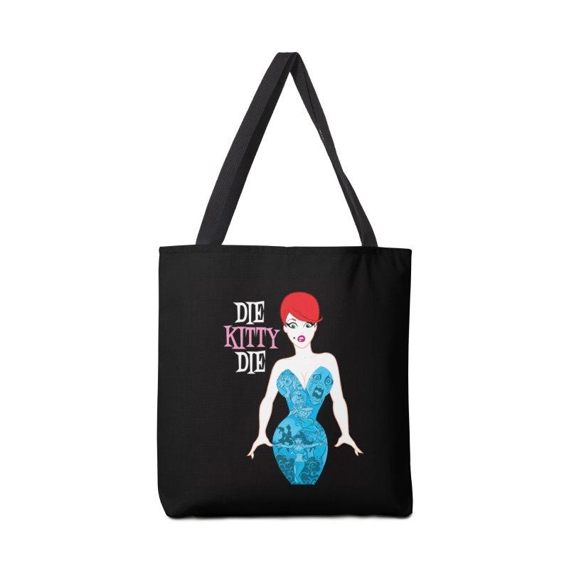 Blue Dress Kitty Accessories Bag by Die Kitty Die Shop