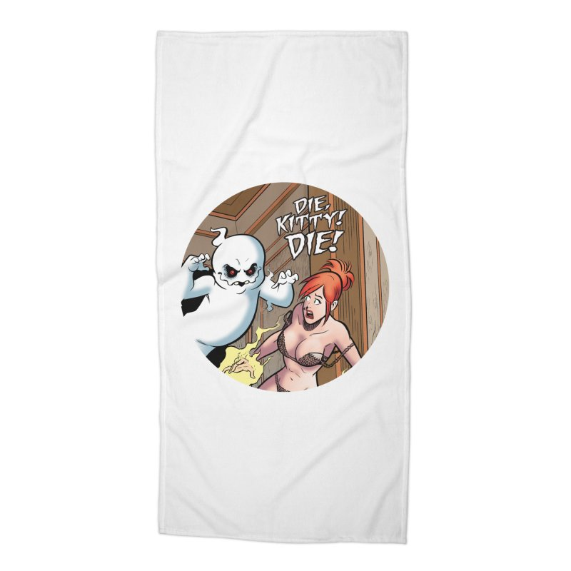 Dippy vs. Kitty! Accessories Beach Towel by Die Kitty Die Shop