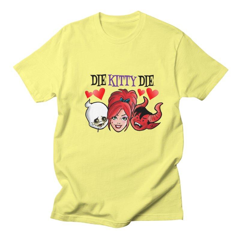 The Gang of Three! Men's T-Shirt by Die Kitty Die Shop