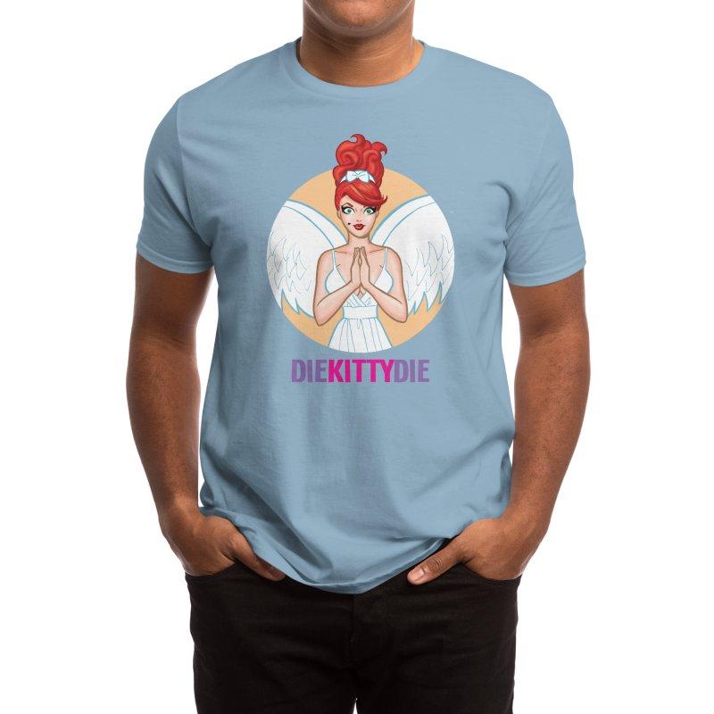 Angelic Kitty Men's T-Shirt by Die Kitty Die Shop