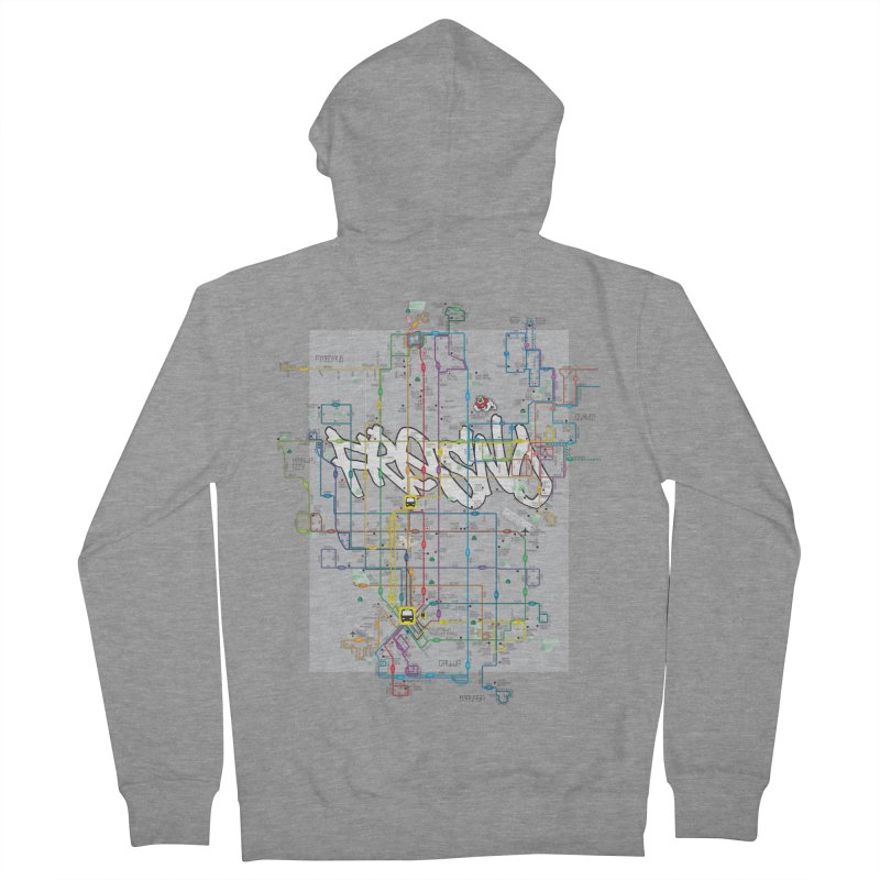 Fresno, CA Men's Zip-Up Hoody by digifab's lab