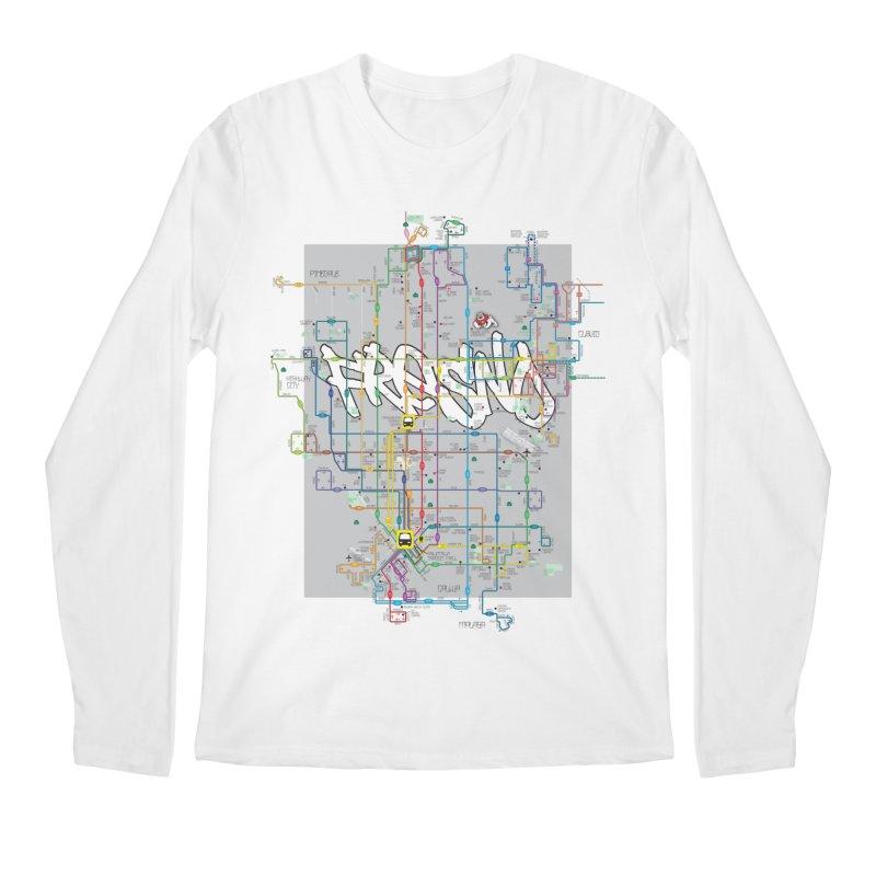 Fresno, CA Men's Longsleeve T-Shirt by digifab's lab