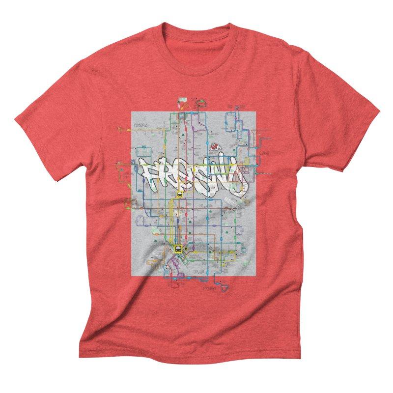Fresno, CA Men's Triblend T-Shirt by digifab's lab