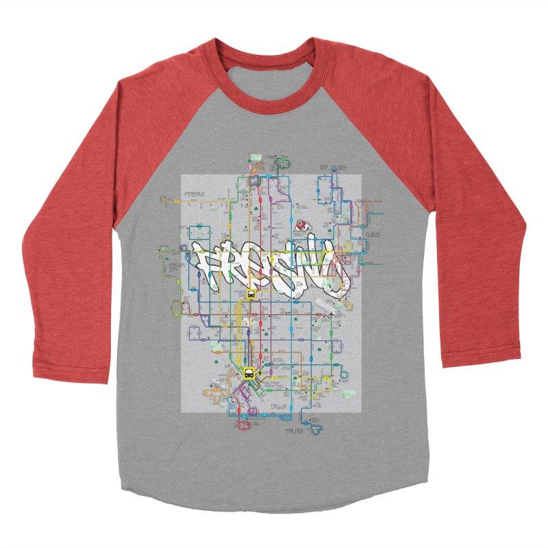 Fresno, CA Women's Baseball Triblend T-Shirt by digifab's lab