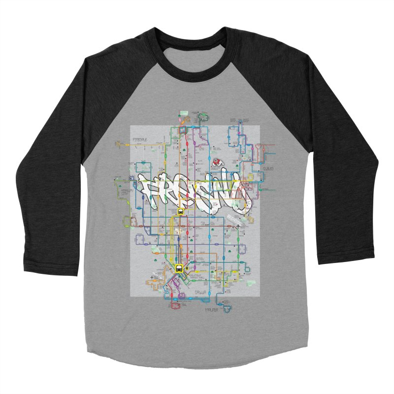 Fresno, CA Men's Baseball Triblend T-Shirt by digifab's lab