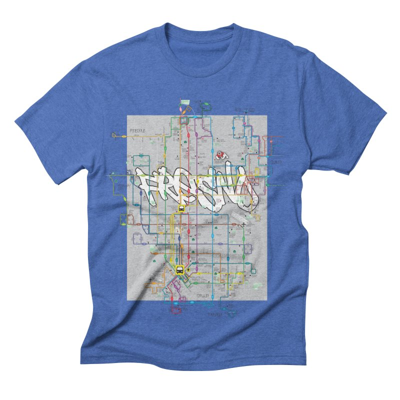 Fresno, CA Men's Triblend T-shirt by digifab's lab