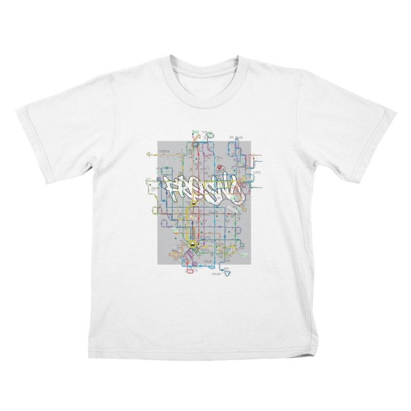 Fresno, CA Kids T-Shirt by digifab's lab