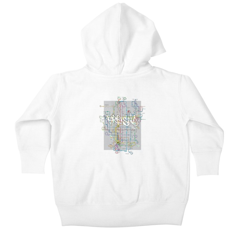 Fresno, CA Kids Baby Zip-Up Hoody by digifab's lab