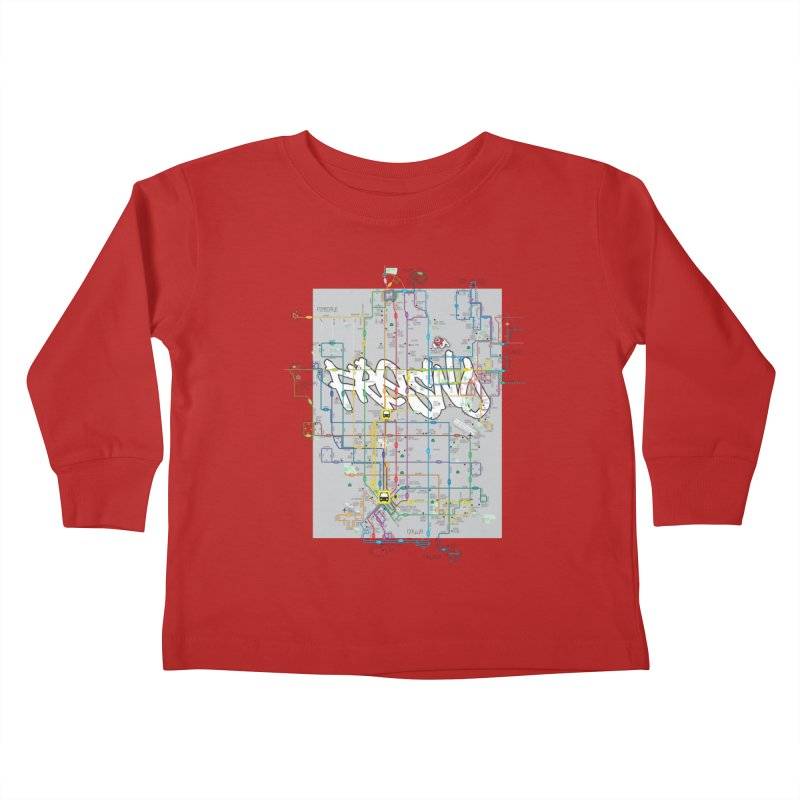 Fresno, CA Kids Toddler Longsleeve T-Shirt by digifab's lab