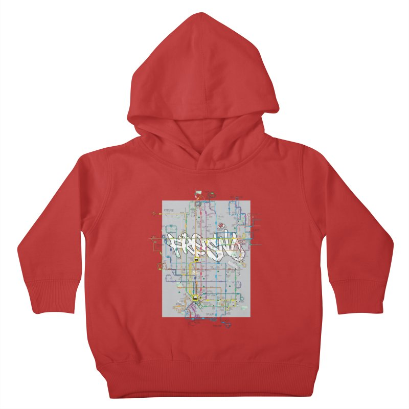 Fresno, CA Kids Toddler Pullover Hoody by digifab's lab