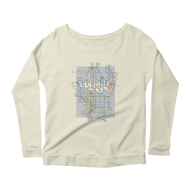 Fresno, CA Women's Longsleeve Scoopneck  by digifab's lab