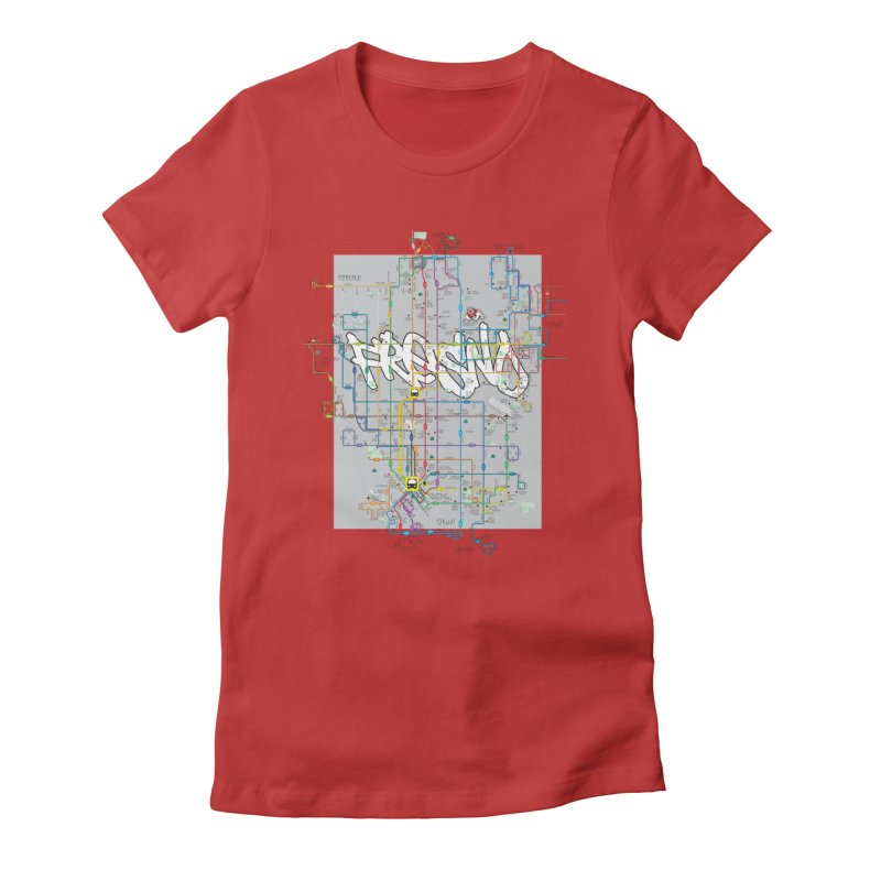 Fresno, CA Women's Fitted T-Shirt by digifab's lab