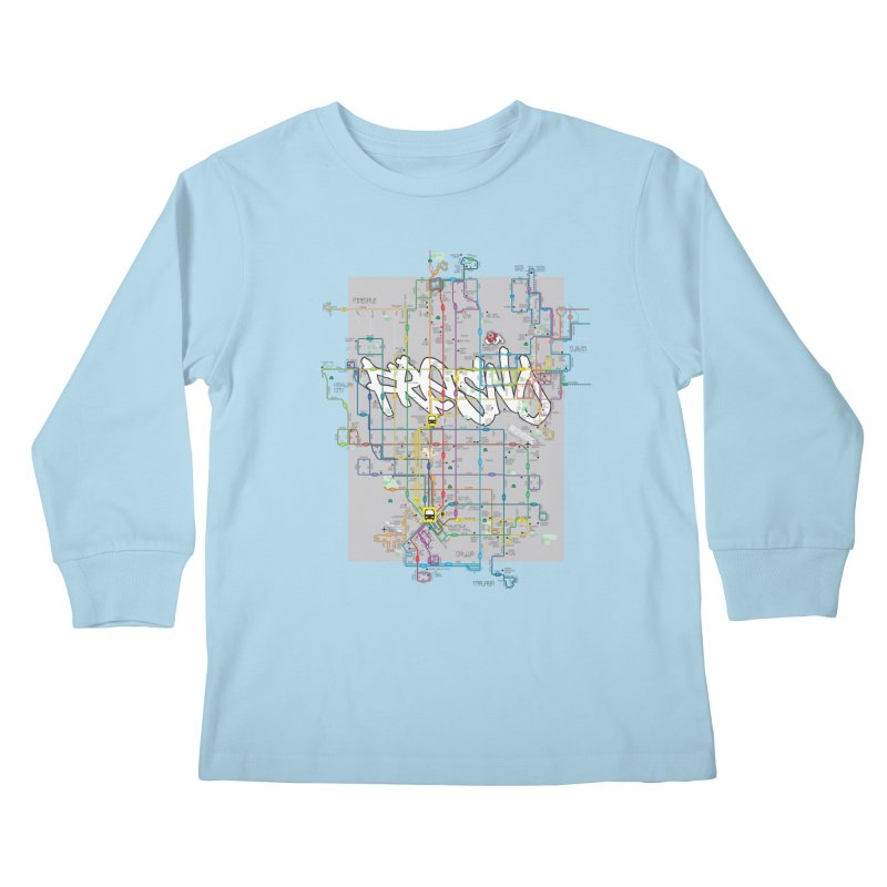 Fresno, CA Kids Longsleeve T-Shirt by digifab's lab