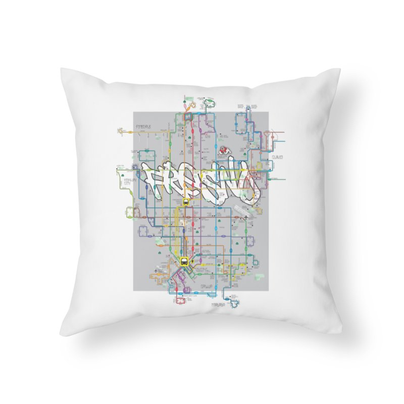 Fresno, CA Home Throw Pillow by digifab's lab