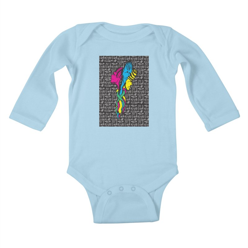 twisted Kids Baby Longsleeve Bodysuit by digifab's lab