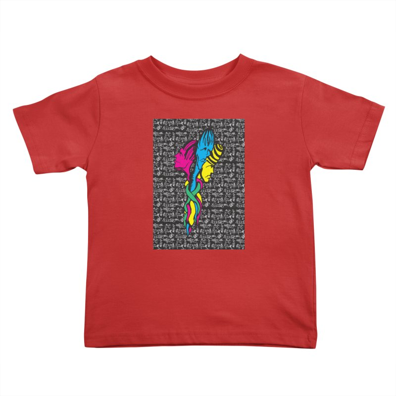 twisted Kids Toddler T-Shirt by digifab's lab