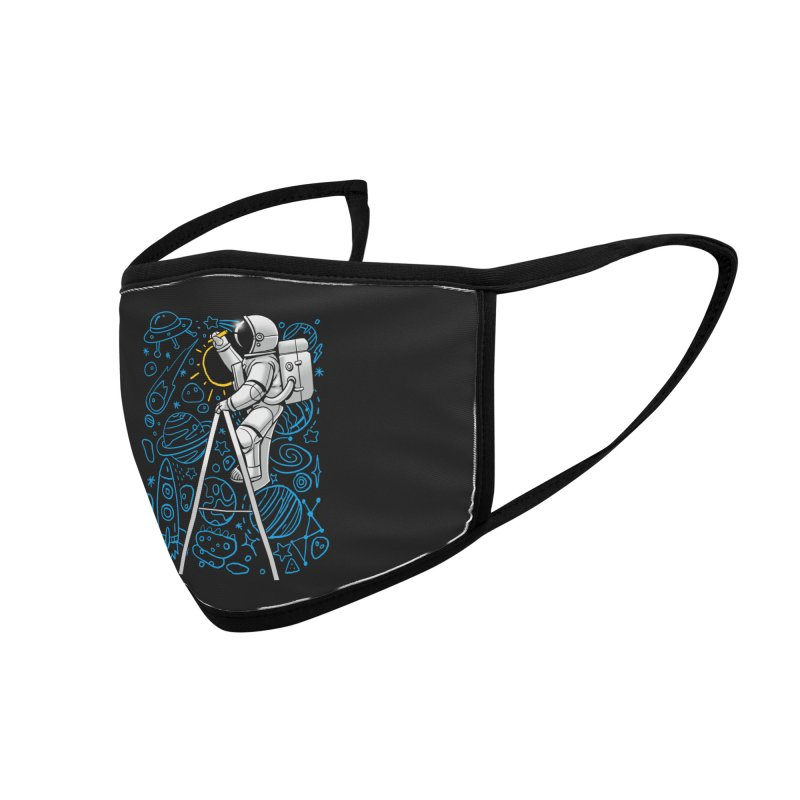 Space Doodle Accessories Face Mask by digital carbine
