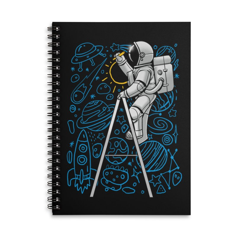 Space Doodle Accessories Notebook by digital carbine