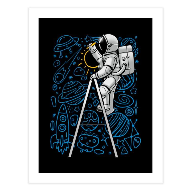 Space Doodle Home Fine Art Print by digital carbine