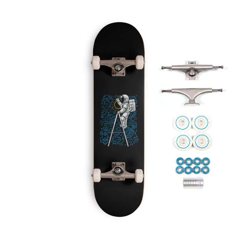 Space Doodle Accessories Skateboard by digital carbine