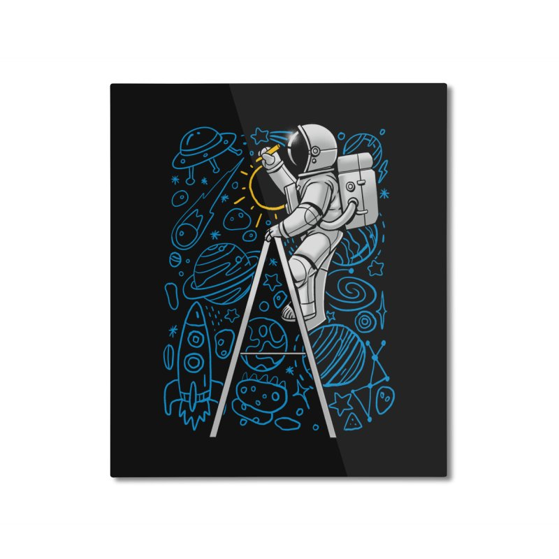 Space Doodle Home Mounted Aluminum Print by digital carbine