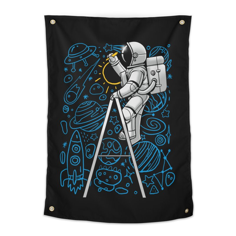 Space Doodle Home Tapestry by digital carbine