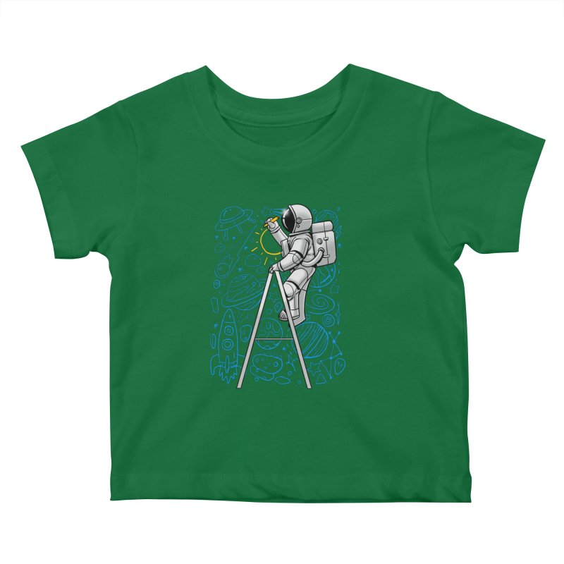 Space Doodle Kids Baby T-Shirt by digital carbine