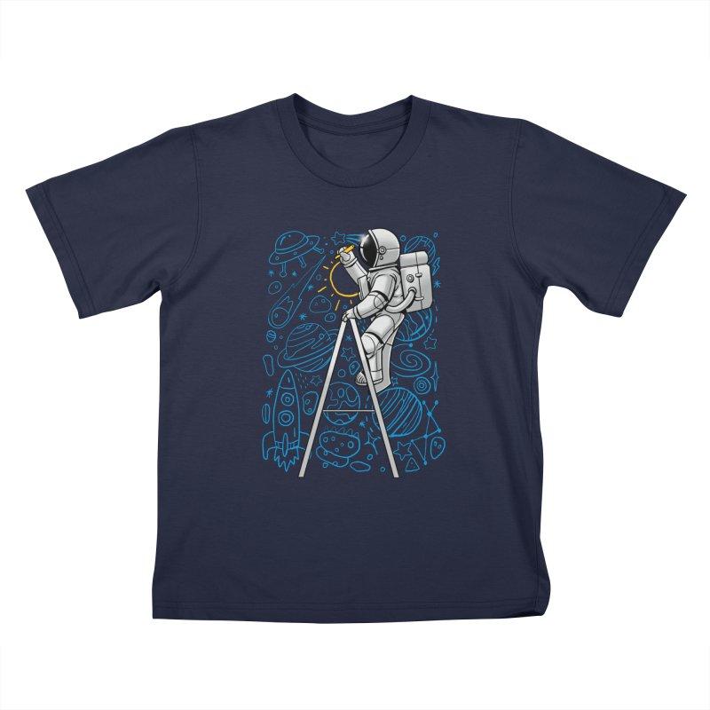 Space Doodle Kids T-Shirt by digital carbine